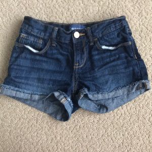 Old Navy Bottoms - Dark cuffed jean shorts, 8